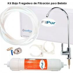 Kit de filtration sous évier pour eau potable FILPUR