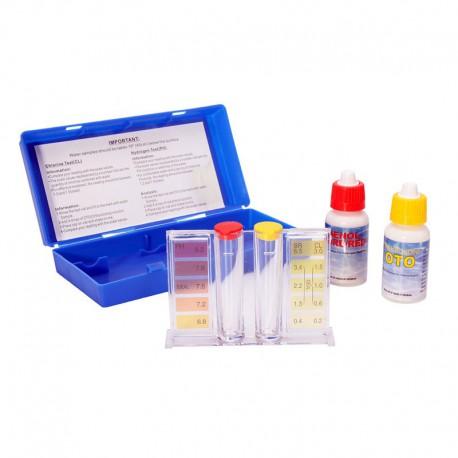 Kit de test pour la mesure du chlore et du pH dans l'eau de piscine