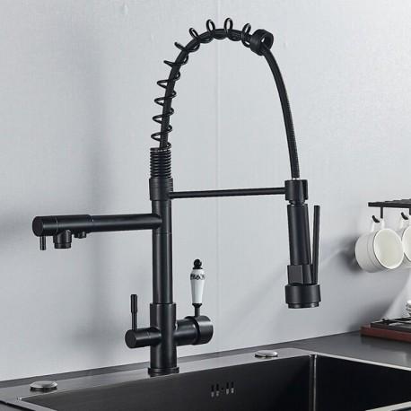 Robinet de douche extensible professionnel à 3 voies et 360 °